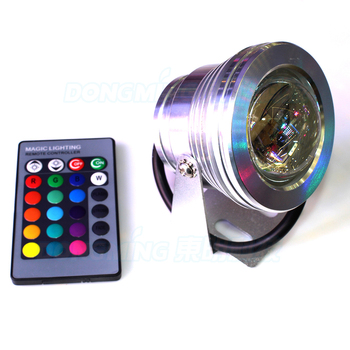 4pcs silver cover 10W led underwater pool light convex lens underwater led lamp RGB underwater led lights IP68