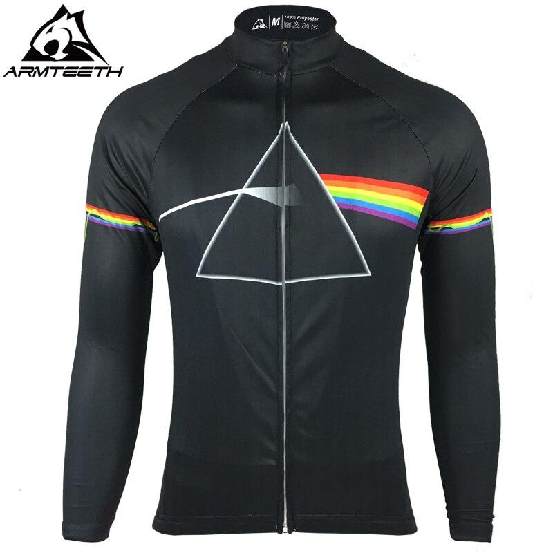 2017 Pink Floyd Ciclismo Pro Manica Lunga Jersey Uomo MTB Shirt Traspirante Vestiti Della Bici Quick Dry Sport Tops XS-5XL