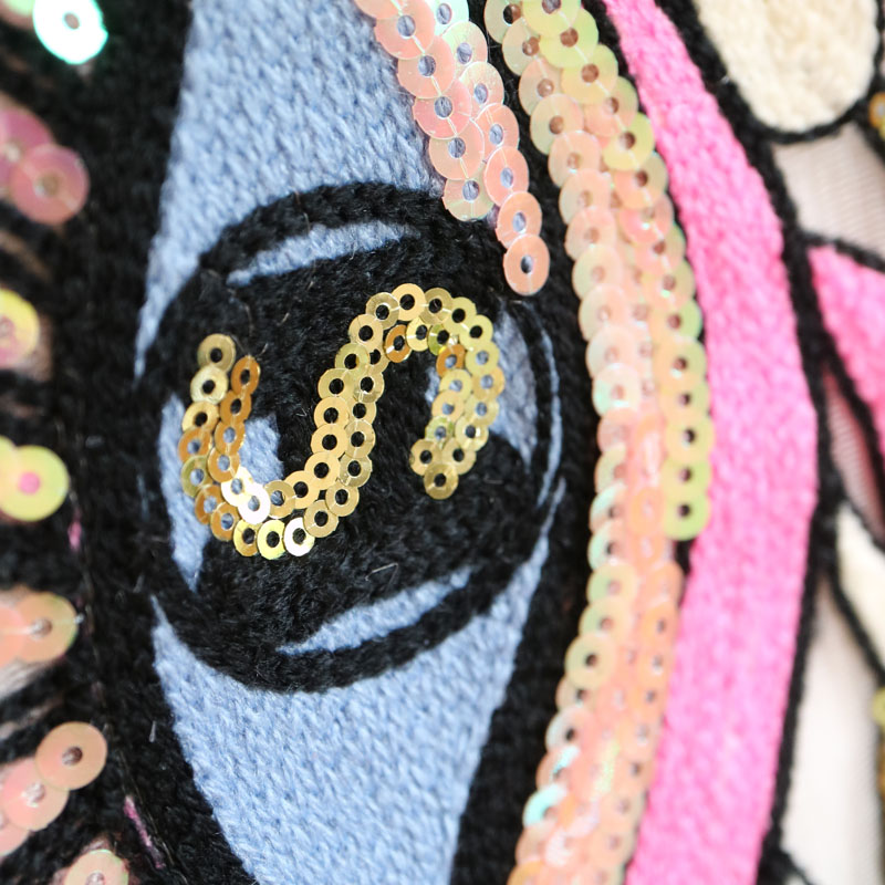 1pc sew on sequins eye Patches for Clothes Embroidery eyes parches Applique Decoration patch in Patches from Home Garden
