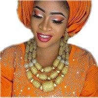 Дубай ювелирные наборы для Для женщин светло желтый и золотой Цепочки и ожерелья вечерний комплект шарики комплект украшений Свадебные ком