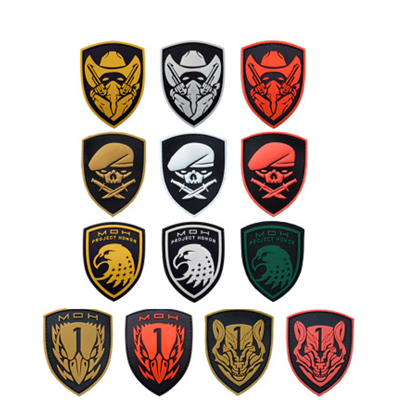 Medal-Of-Honor-MOH2010-patch-Hook-Loop-Noctilucent-pvc-rubber-Tactical-badges-for-cloth-Wolfpack-Project