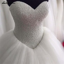 lakshmigown Sweetheart Ball Gown Strapless Wedding Dresses