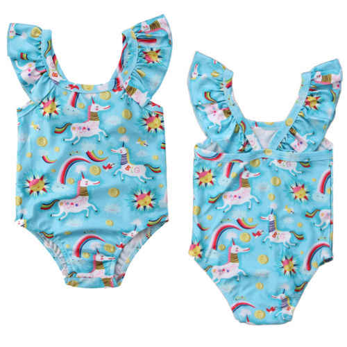17be94b078e71 ITFABS New Toddler Unicorn Rainbow Swimwear Kids Baby Girls One-piece  Swimsuit Cartoon Children Summer