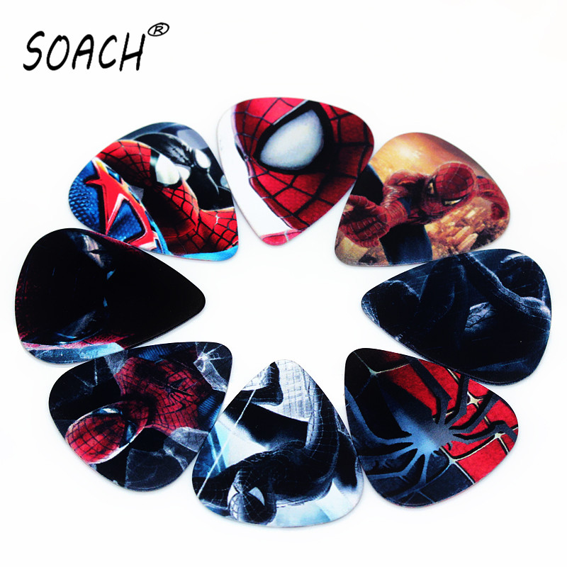 SOACH 10PCS 0.46mm 0.71mm 1.0mm high quality guitar picks two side pick DIY Mix guitar paddle Musical instrument accessories disney mix max high school musical movie