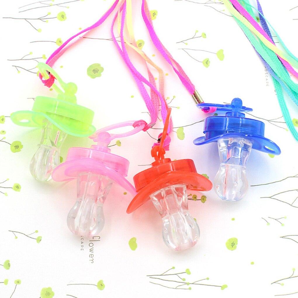 2019 Neue 12 Stücke Kühle Licht Nippel Pfeife 3 Lichter Bar Ktv Party Led-blitz Pfeife Booster Requisiten Farbe Zufällig
