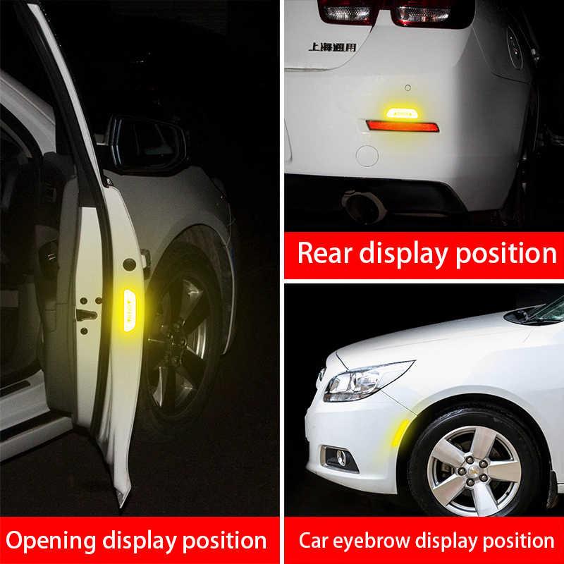 4 шт./компл. автомобиля открываются светоотражающие ленты предупреждающий знак светоотражающие наклейки на дверь машины для Mazda 2 3 5 6 CX-3 CX-4 CX-5 Atenza аксессуары