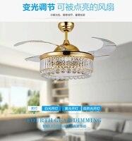 ZCJ 42 дюймов 106 см потолочный вентилятор огни пульт дистанционного управления невидисветодио дный мый светодиодный вентилятор лампа столова
