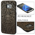 YFWOOD cheap price customized attractive engraving patterns wooden phone case for Samsung Galaxy S7 Edge