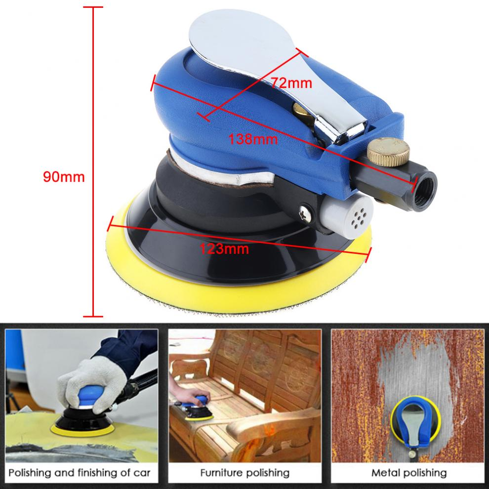 Image 2 - 5 Inch Matte Surface Pneumatic Polishing Machine Random Orbital with Sander Pad for Cars Polishing / Grinding / Waxing-in Pneumatic Tools from Tools on