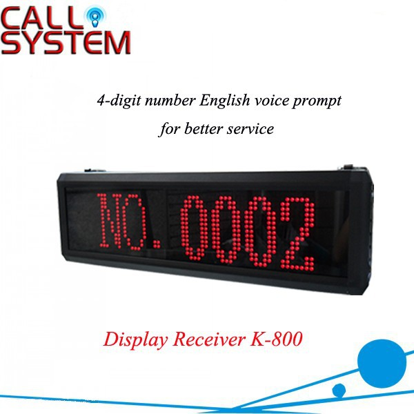 K-800 NO Wireless Number Display Screen