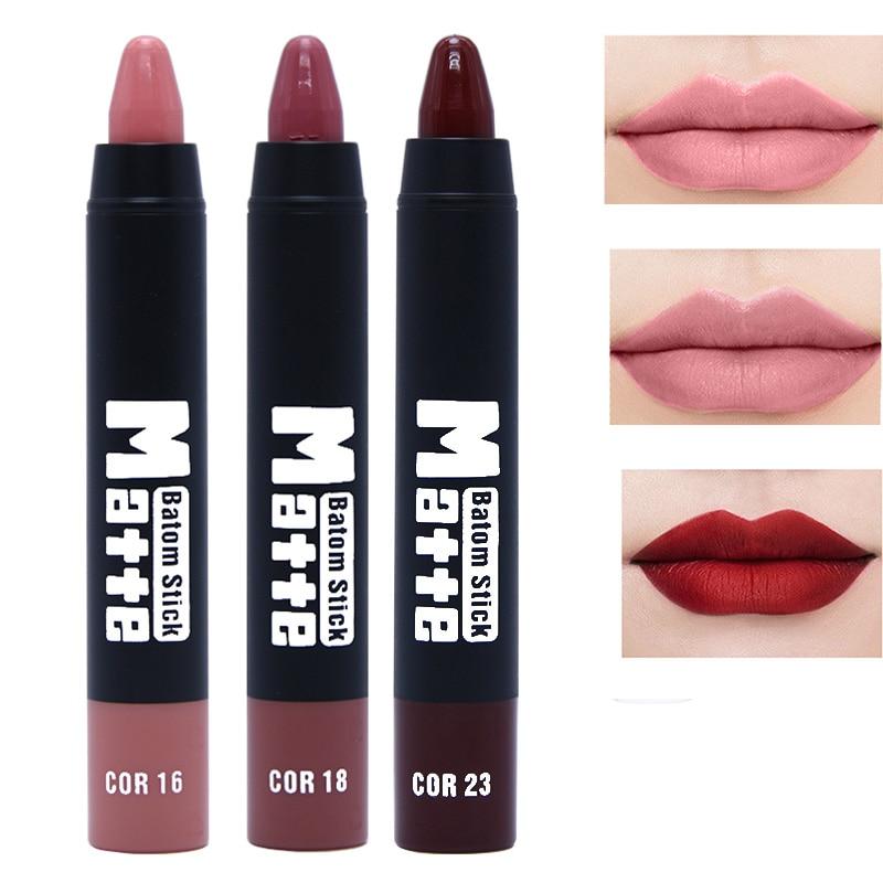 Miss Rose Brand Beauty Matte Moisturizing Lipstick Makeup Lipsticks Lip Stick Waterproof Lipgloss Mate Lipsticks Cosmetic