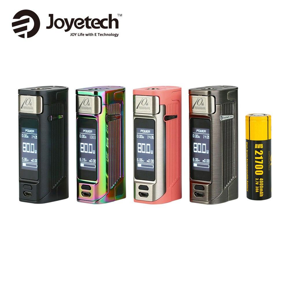 Оригинал Joyetech ESPION Solo 21700 80 Вт TC поле MOD с 1,3 дюймов сенсорный экран OLED и 21700 4000 мАч 80 Вт Максимальная выходная e-сигареты