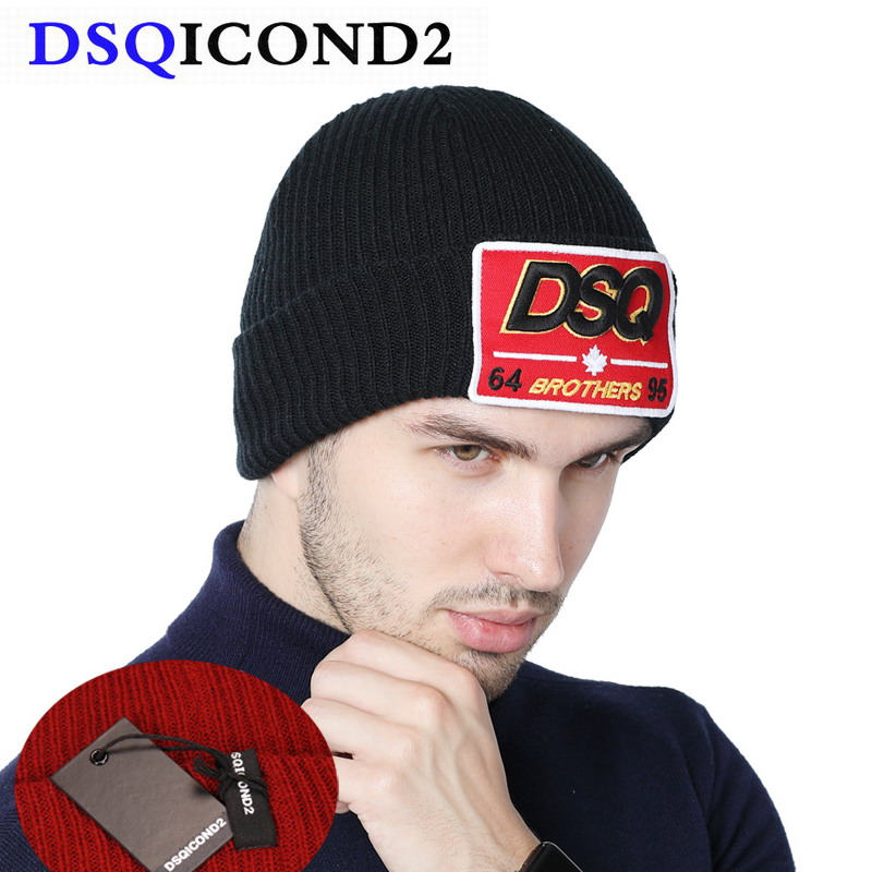 DSQICOND2 NEW Brand Skullies Beanie Embroidery Skiing Knitted Hats Arrival Knitted DSQ Winter Hats Men Women Canada Bonnet Homme