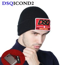 DSQICOND2 NEW Brand Skullies Beanie Embroidery Skiing Knitte