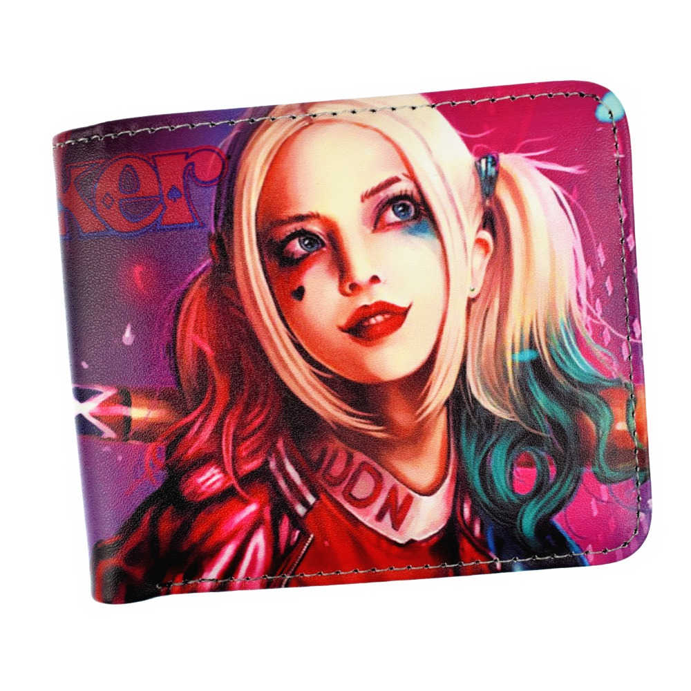 Comics Anime Batman And Harley Quinn Wallet Women And Men's Short Wallets With Coin Pocket Photo Holder