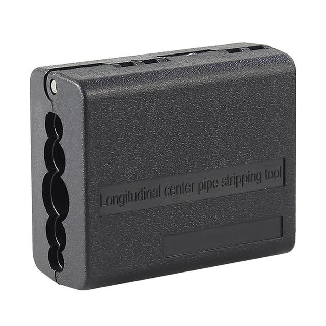Envío Gratis 4,5mm 11mm cinta centro Longitudinal Cable Stripper tubo cortadora del cortador de Cable
