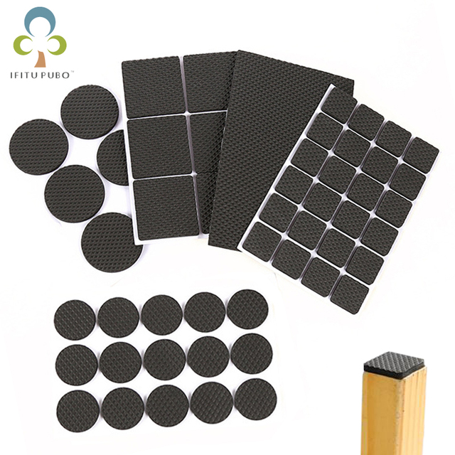 Bon 2 Sheets Non Slip Self Adhesive Floor Protectors Furniture Sofa Table Chair  Rubber Feet Pads