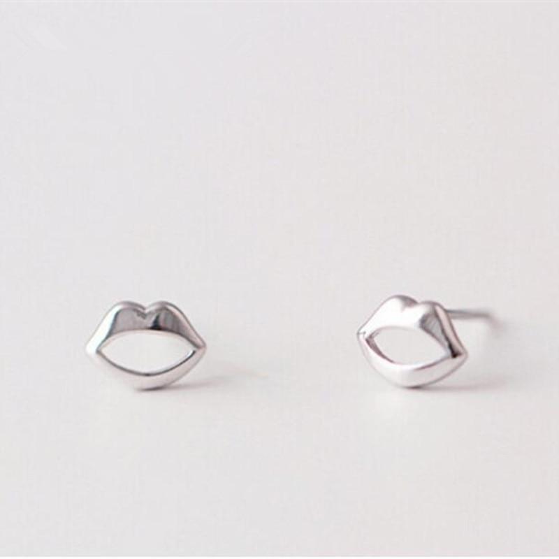 ad485f3ecf58 Personalidad de la moda 925 plata esterlina joyería exquisita elegante  dulce Labios suave hueco antialérgico Pendientes se145