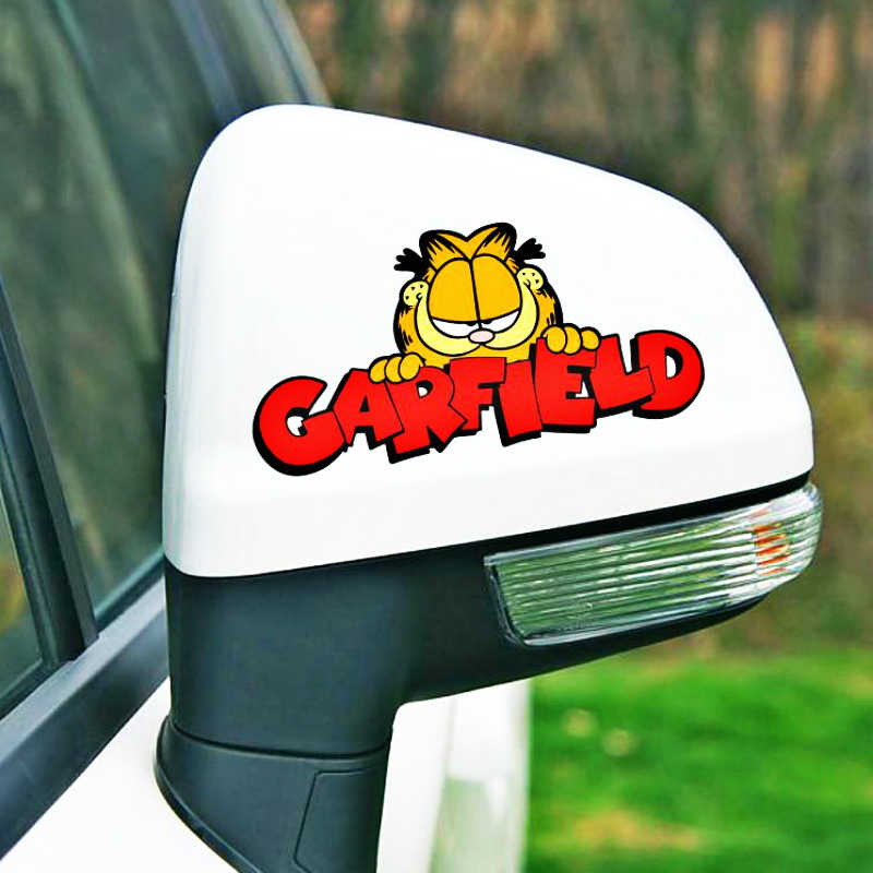 Aliauto Vinil Decalque Do Carro Etiqueta Do Carro Dos Desenhos Animados Engraçado Garfield-estilo para Ford Mondeo Foco MK4 2 3 C-max S-max Ranger Kuga Trânsito