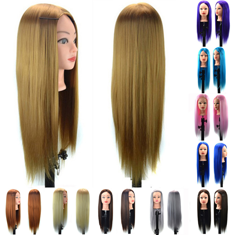 Professional 60cm Hairdressing Practice Training Head Artificial Hair Mannequin Makeup Doll Head Salon Hait Styling Training 50cm long gold hair training head salon professional hairdressing doll mannequin dummy for hairstyles practice manikin head