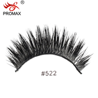 High Quality PROMAX 522 False Eyelashes 12 Pairs Handmade Fake Lashes Soft Natural Long Eye Lashes