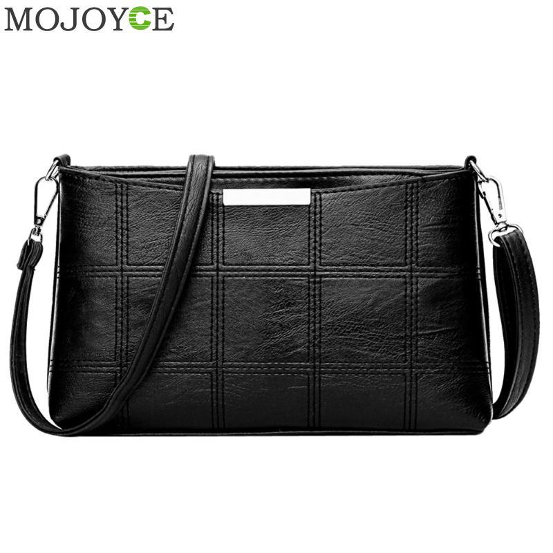 Fashion Women Plaid Handbag PU Leather Messenger Bag Autumn Women Shoulder Bags Famous Brand Female Party Elegant Handbags