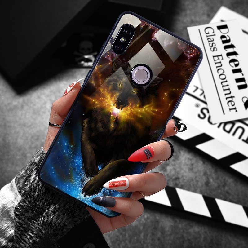 note 5 phone cases Tempered Glass Case For Xiaomi Redmi Note 5 5 Pro 5 Plus Note 4X Case Luxury Animal Pattern Case For Xiaomi Mi 8 A1 5X Coque (6)