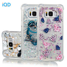 IQD Cover For Samsung Galaxy Note 8 S9 S8 Plus S7 S6 Edge S5 Case Fusion Sparkling Quicksand Glitter Shockproof Bumper Girls new