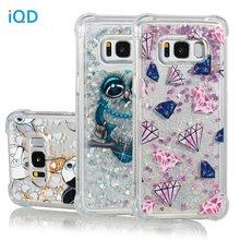 IQD Cover Voor Samsung Galaxy Note 8 S9 S8 Plus S7 S6 Rand S5 Case Fusion Fonkelende Quicksand Glitter Shockproof bumper Meisjes nieuwe