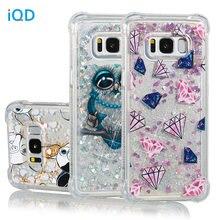 IQD สำหรับ Samsung Galaxy หมายเหตุ 8 S9 S8 Plus S7 S6 Edge S5 กรณี Fusion ประกาย Quicksand Glitter กันกระแทกกันชนใหม่