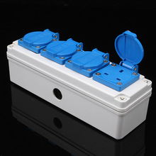 IP54 Waterproof Electrica Socket 13A 4 Bit UK Plug Power Damp Proof Outdoor Electrical Outlet With Cover