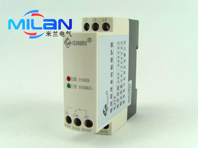Wenzhou Glitter XJ12 three-phase AC phase sequence protection relay protector  accessories three phase voltage monitoring device gkr 02 three phase sequence protection relay