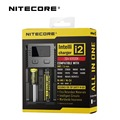 Original nitecore i2 cargador de batería inteligente con pantalla lcd cargador universal para 26650 18650 14500 aa aaa 16340