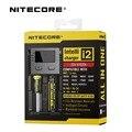 Original nitecore i2 carregador de bateria inteligente com display lcd universal para 26650 18650 14500 aa aaa carregador de 16340