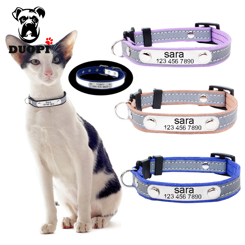 6a1cbcc841c3 Pet Supplies Collars Reflective Personalised Dog Collar Cat Puppy Small Dog  Collar Name Phone Engrave