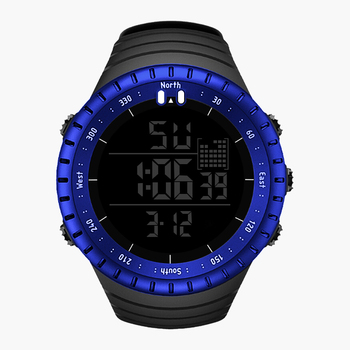 SENORS Sport Watch Men Outdoor Digital Watches LED Electronic Wristwatch Military Alarm Male Clock Digital 6