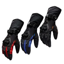 SUOMY Winter Motorcycle Gloves Warm Waterproof Protective Sports  Guantes Luvas  Riding Motorcycle Riders Anti Fall Off Glove