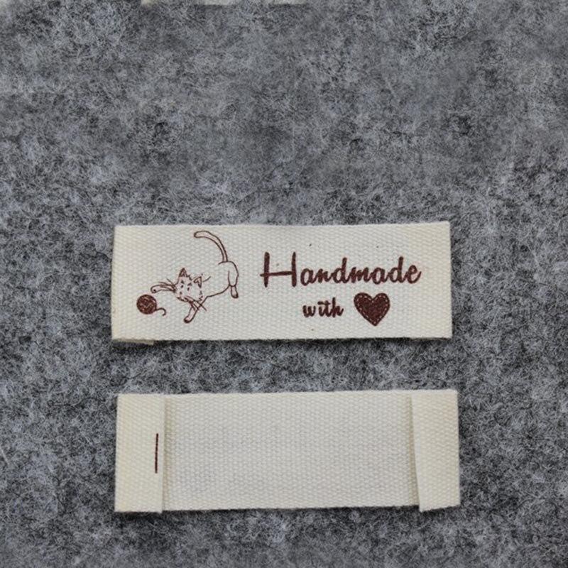 Высокое качество, Детская Хлопковая этикетка,, этикетка «сделай сам» ручной работы с надписью «love»