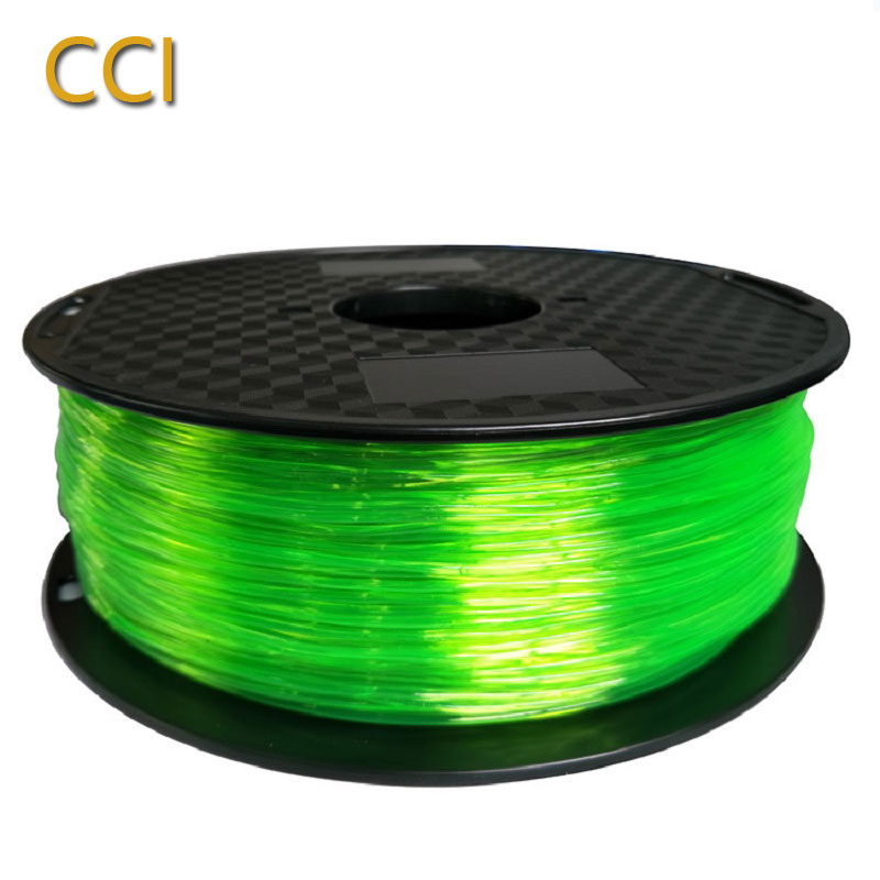 3d printer filament çevik tpu 1.75mm 3d çap materialı 3d printer filament şəffaf tpu nümunəsi 1000 q plastik