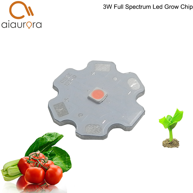 Hydroponics 3w 400nm-840nm Full Spectrum Led Grow Light Chip Led Plant Lights Broad Spectrum Led Diode Light Source Top Wassermelonen Licht & Beleuchtung Led-beleuchtung