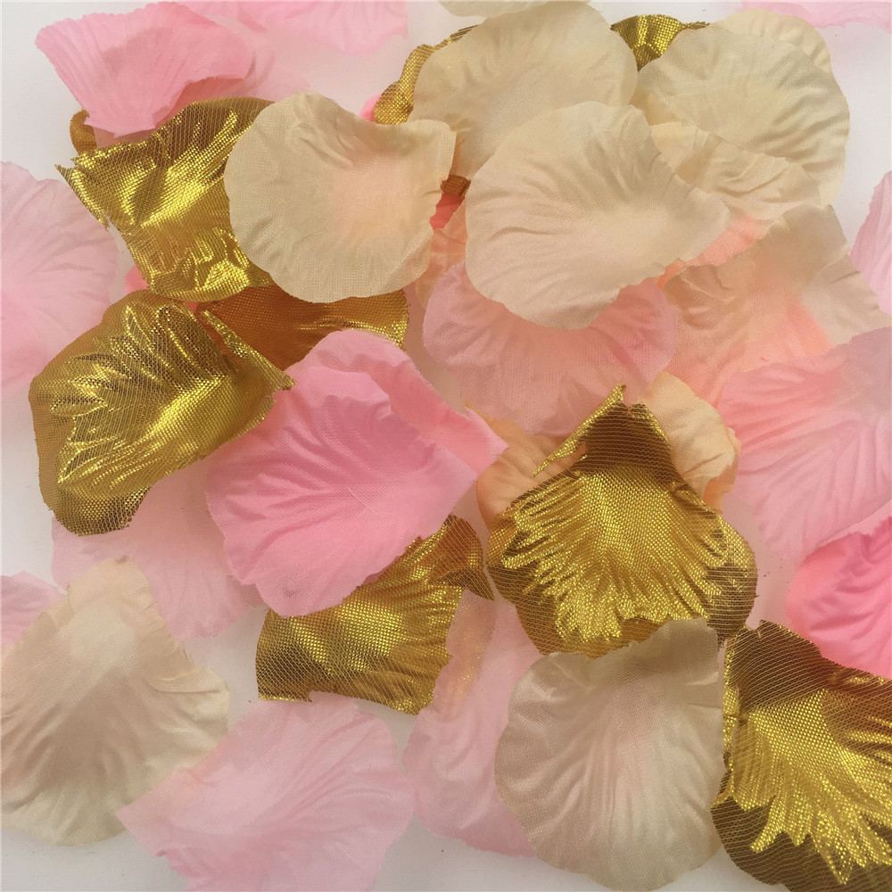 Pink Gold Rose Petals Wedding Decoration Artificial Flowers For ... 53a6fc571e67