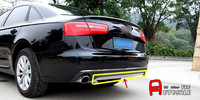For Audi A6 C7 2012 2013 2014 2015 Stainless Chromium Styling Car Rear Trunk Bottom Cover