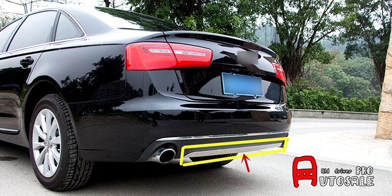 For Audi A6 C7 2012 2013 2014 2015 Stainless Chromium Styling Car Rear Trunk Bottom Cover Trim Exterior Car Styling 1pcs