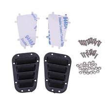 1Set TRX4 Zwart Plastic Intake Grille Cover voor Traxxas 1/10 RC Crawler TR Intake Grille Cover TRX-4 Body Remote auto Accessoires(China)