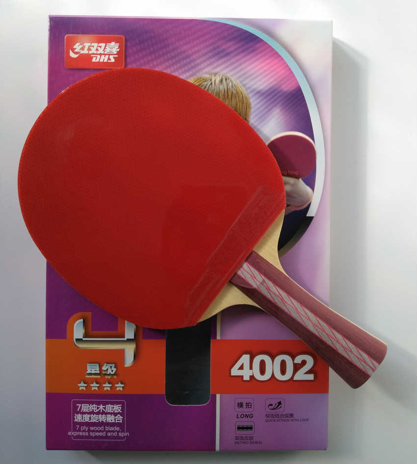 Original DHS 4002 4006 table tennis racket with 4 stars pimples in rubbers fast attack loop DHS racquet sports ping pong paddles