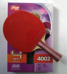 Original dhs 4002 4006 raquete de tênis mesa com 4 estrelas espinhas em borrachas ataque rápido loop dhs raquete esportes ping pong pás