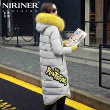 2016 new Hot winter Thicken Warm Woman Down jacket Coat Parkas Outerwear Luxury Hooded Raccoon Fur collar long plus size Slim