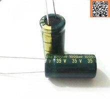100 шт./лот T36 низким ESR/импеданс высокая частота 35 В 1000 мкФ алюминиевый электролитический конденсатор размер 10*20 1000uf35v 35v1000uf
