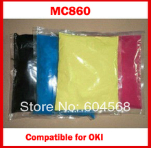 High quality color toner powder compatible for OKI MC860/MC860dhn/MC860dtn Free Shipping