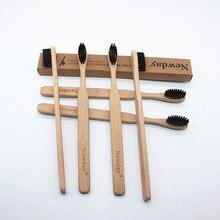 10 шт. Bamboo Зубная щётка для взрослых дерево зубная щетка Бамбук мягкой щетиной натуральный эко capitelum бамбуковое волокно деревянной ручкой